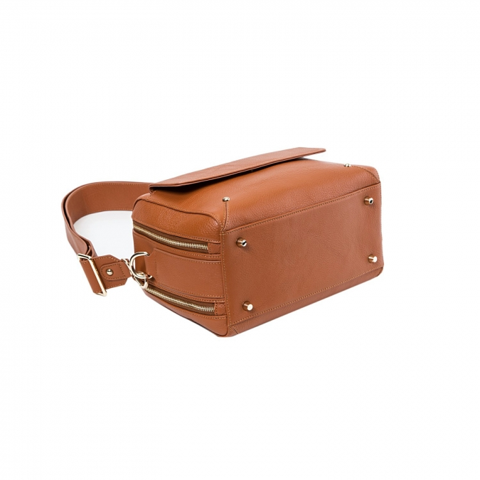 borsa crossbody da donna in vera pelle tawny stile old school