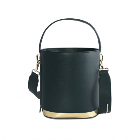 Tote bag in pelle verde da donna
